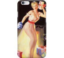 Gil Elvgren Christmas Pinup iPhone Case/Skin