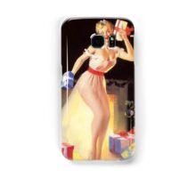 Gil Elvgren Christmas Pinup Samsung Galaxy Case/Skin