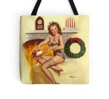 Christmas Present Gil Elvgren Pinup Tote Bag