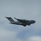 C-17 GlobeMaster III on Final Approach by Howard Lorenz
