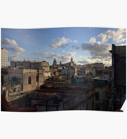 Havana rooftops Poster