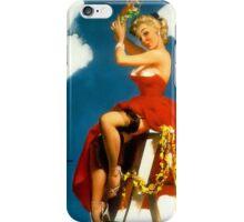 Christmas Mistletoe Gil Elvgren Pinup iPhone Case/Skin
