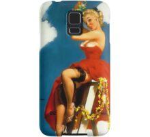 Christmas Mistletoe Gil Elvgren Pinup Samsung Galaxy Case/Skin