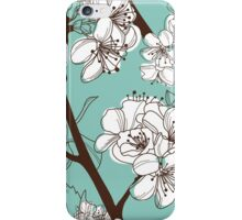 Blue Floral # 2 iPhone Case/Skin