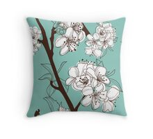 Blue Floral # 2 Throw Pillow