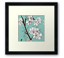 Blue Floral # 2 Framed Print
