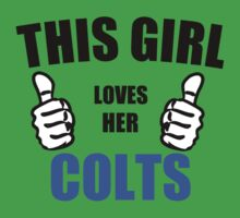THIS GIRL LOVES HER COLTS Kids Clothes