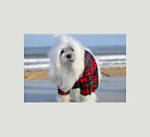 Snowdrop the Maltese - The Beach in Winter Unisex T-Shirt