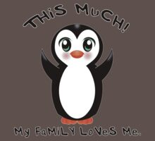 Family Loves Me ~ Baby Penguin One Piece - Short Sleeve