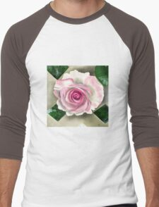 Pink Rose Men's Baseball ¾ T-Shirt