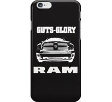 Glory Guts Ram white iPhone Case/Skin