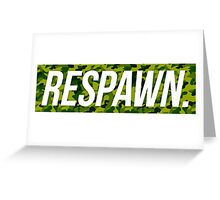 Respawn Camo Greeting Card