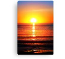 Sunset Pipers Canvas Print