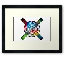 the galaxy of x Framed Print