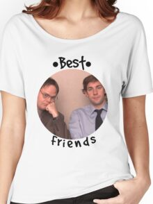 Jim and Dwight - Best Friends Unite! Women's Relaxed Fit T-Shirt