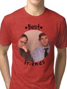 Jim and Dwight - Best Friends Unite! Tri-blend T-Shirt
