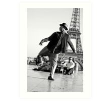 Slyde the Artist 01 (in Paris) Art Print