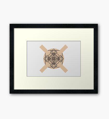 the galaxy of x II Framed Print