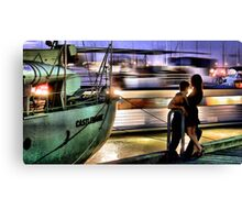 Like two ships that pass in the night... Canvas Print