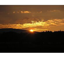 Sunset Over West Linton Photographic Print