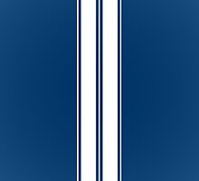 Dark Blue With White Racing Stripes Phone Case by SOVART69