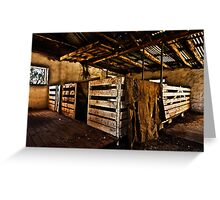 Old Sheep Pen Greeting Card