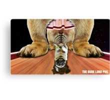 the dude lord pug Canvas Print