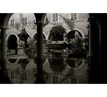 Atrium in Black & White Photographic Print