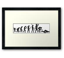 evolution drunk falling Framed Print