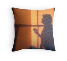 Praying by the Window Throw Pillow
