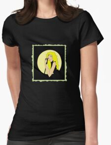 singing woman Womens Fitted T-Shirt