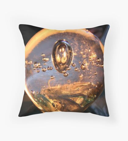 Candles in Glass Throw Pillow