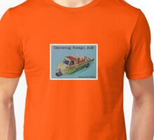 "Delivering ""foreign aid"", from the series #FastFoodTurfWar by Tim Constable Unisex T-Shirt"
