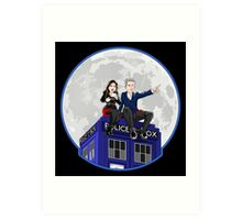 Clara and the Doctor Art Print