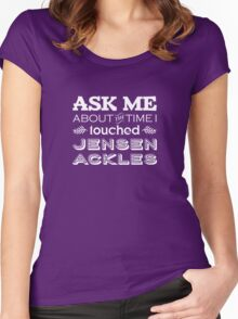 I touched Jensen Ackles Women's Fitted Scoop T-Shirt