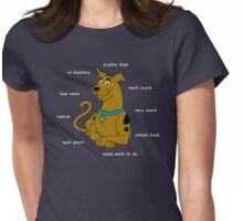Scabby Doge - Light Text Womens Fitted T-Shirt