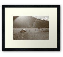 Bitterroot Valley Farming Framed Print
