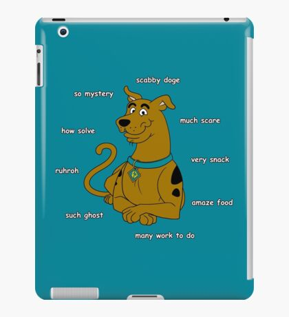 Scabby Doge - Light Text iPad Case/Skin