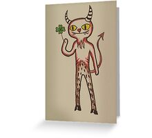 Lucky Devil Greeting Card
