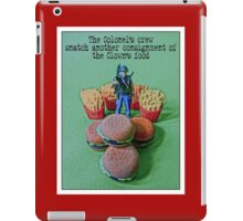 Seizing the Clown's food from the series #FastFoodTurfWar iPad Case/Skin