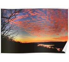 Pink Sky over Bull Shoals Poster