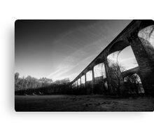 Chirk Aqueduct Morning Shadow Canvas Print