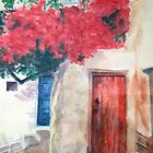 Doorways of Mykonos by Carolyn Bishop