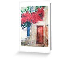 Doorways of Mykonos Greeting Card