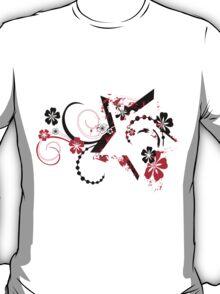 grunge floral star T-Shirt