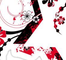 grunge floral star Sticker