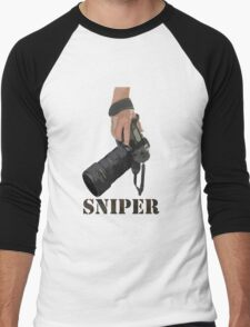 Sniping - photographer-style! Men's Baseball ¾ T-Shirt