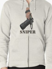 Sniping - photographer-style! Zipped Hoodie