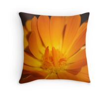 Pretty Orange Flower Throw Pillow