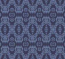Mormor Damask - Navy by hippano